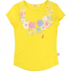 Girls Yellow T-shirt