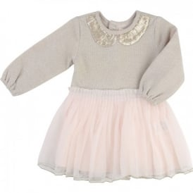 Mini Girl Gold Tulle Dress