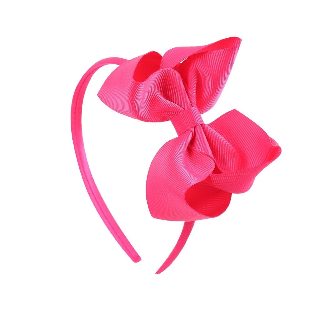 Large Grosgrain Bow Hair Band - Fuchsia d759c696a1c
