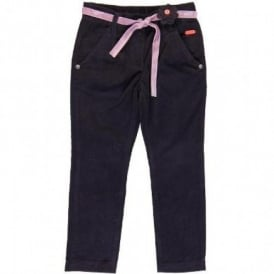 Girls Purple Cord Trousers