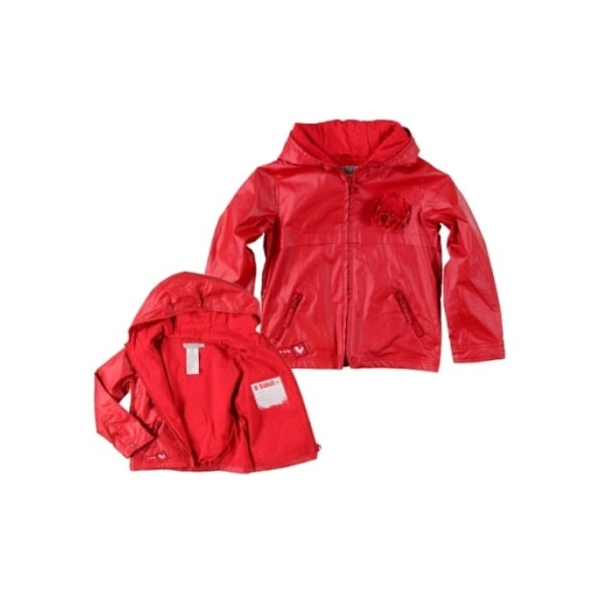 Boboli Girls Red Showerproof Jacket
