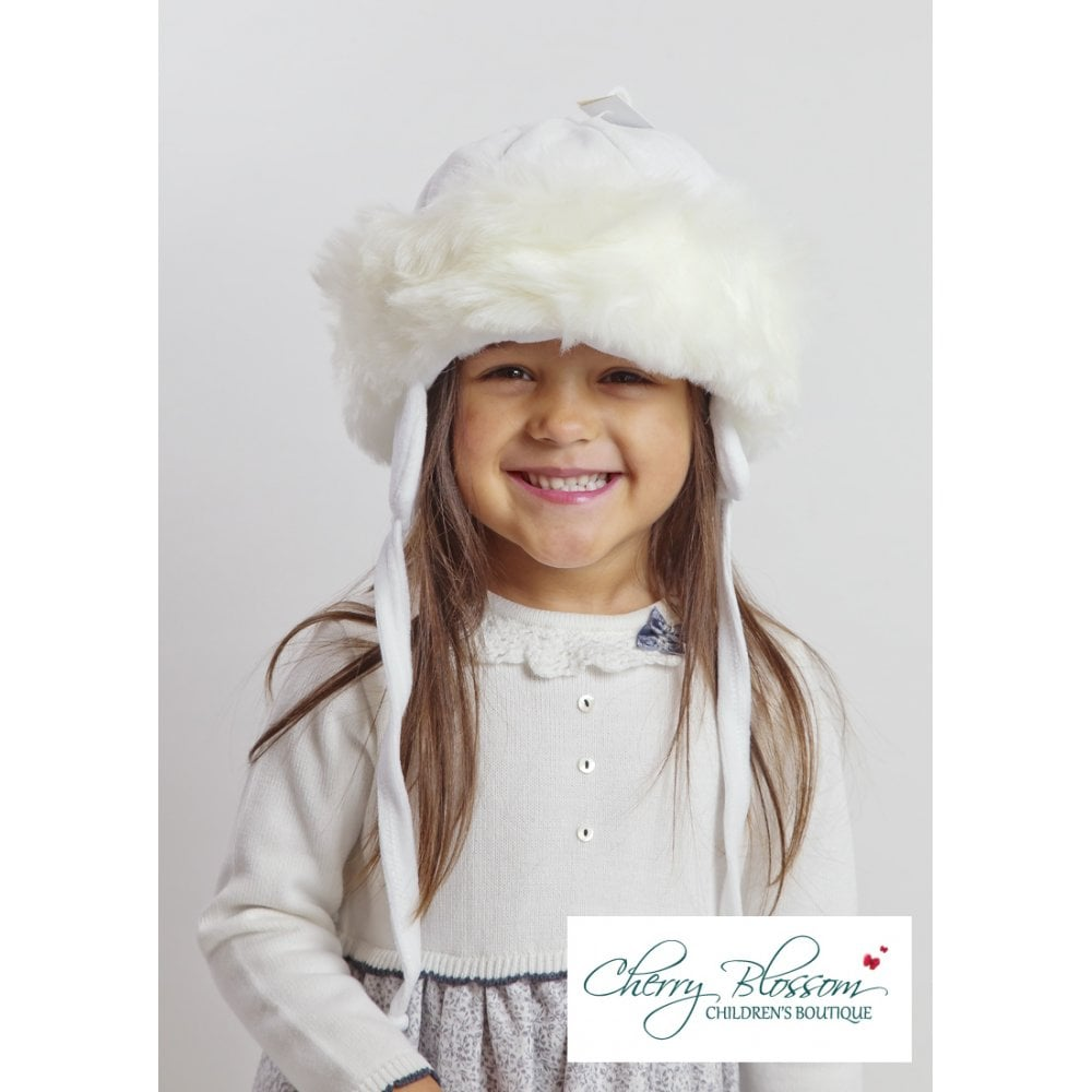 Baby-Toddler-Girl-Fur-Trim-Hat-in-White fcf7d76b4a8d