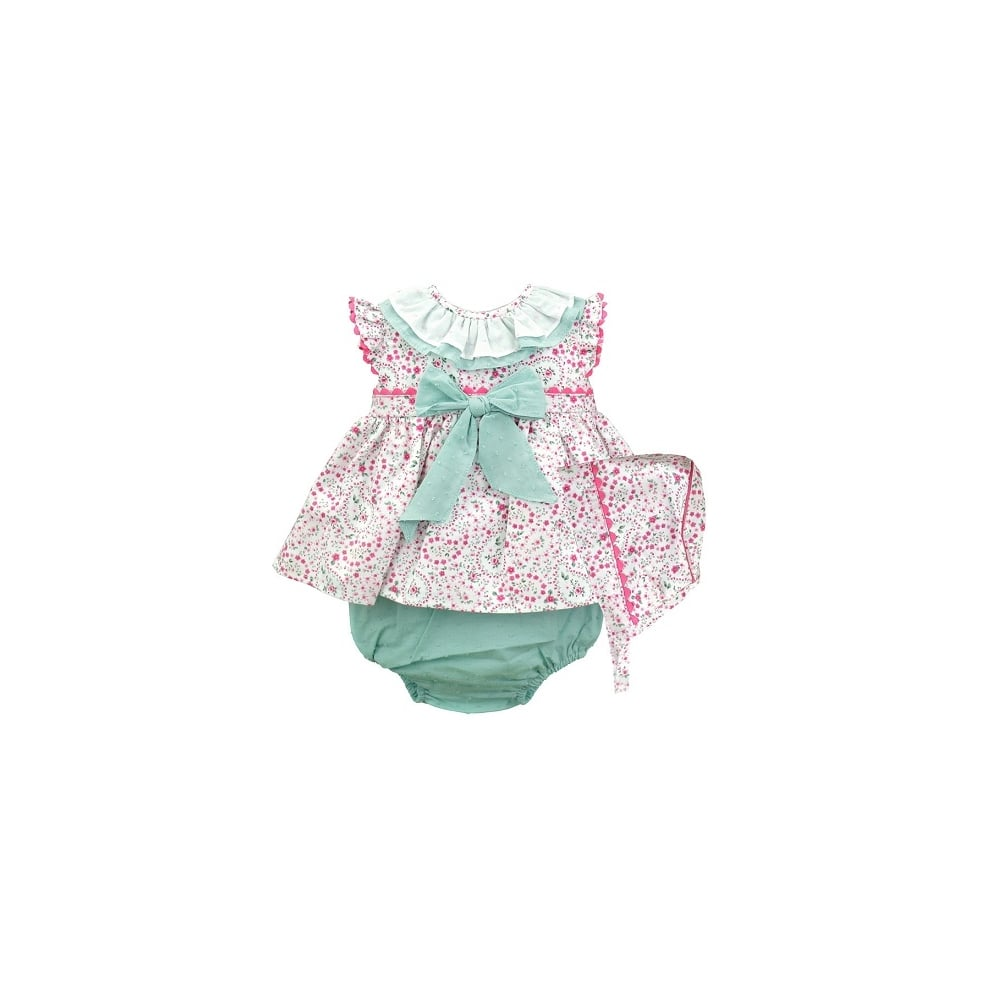 35307a5a5 Baby Girl Spanish Dress Knickers and Bonnet Set