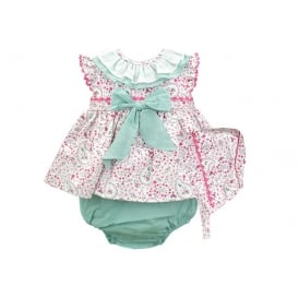 Baby Girl Spanish Dress Knickers and Bonnet Set