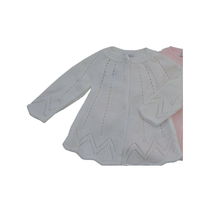 Boutique Baby Girl White Knitted Matinee Coat