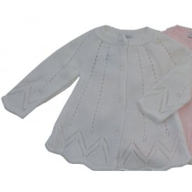 Baby Girl White Knitted Matinee Coat