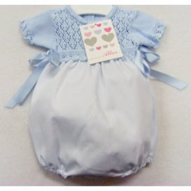 Baby Pale Blue Knit Top Romper