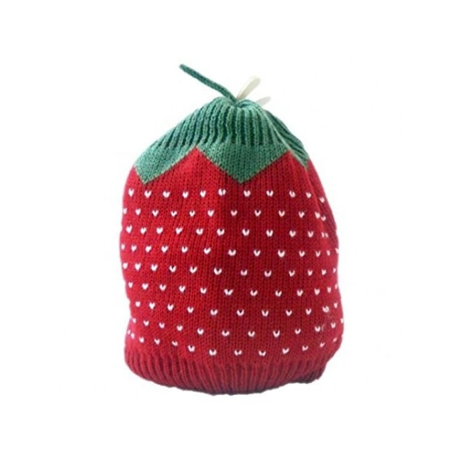 Boutique Baby Strawberry Design Knitted Beanie Hat