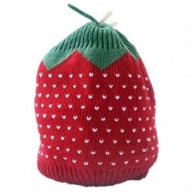 Baby Strawberry Design Knitted Beanie Hat
