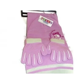Girls Ballerina Hat, Scarf & Gloves Set