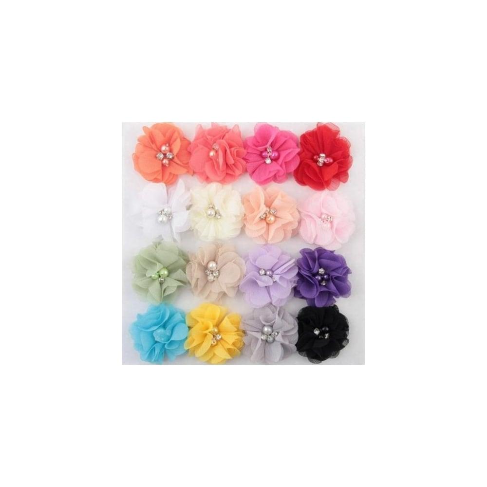 Girls diamante flower hairclip girls diamante flower hairclip various colours mightylinksfo