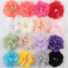 Girls Diamante Flower Hairclip - Various Colours