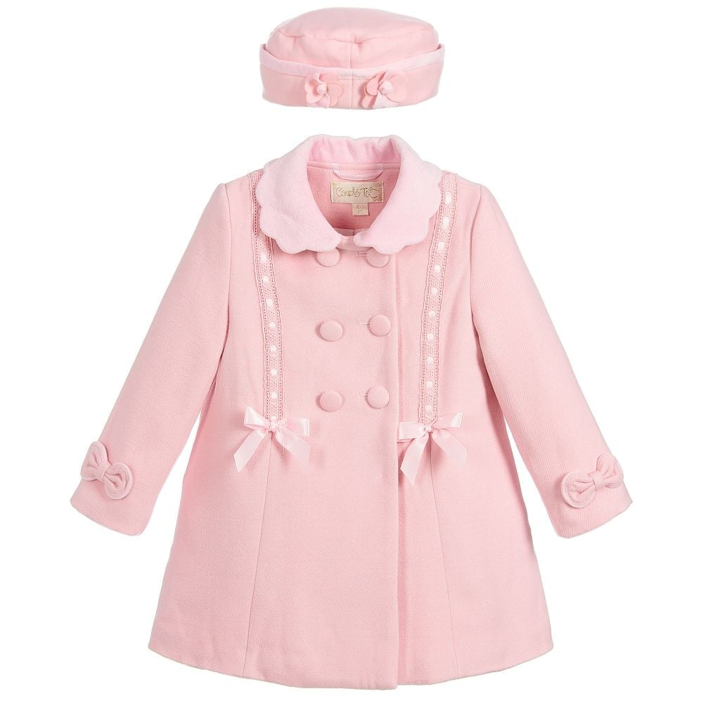 3ae7af58ae4d0 Couche-Tot-Girl-Pink-Coat-and-Hat-Set