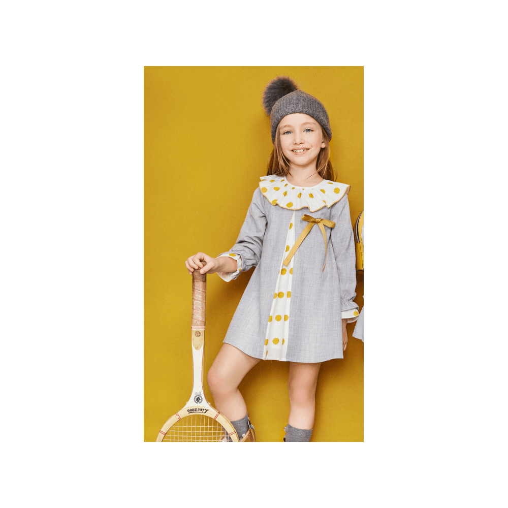 5a85ad1b8251 Newness-Girls-Grey-with-Yellow-Polka-Dot-Dress