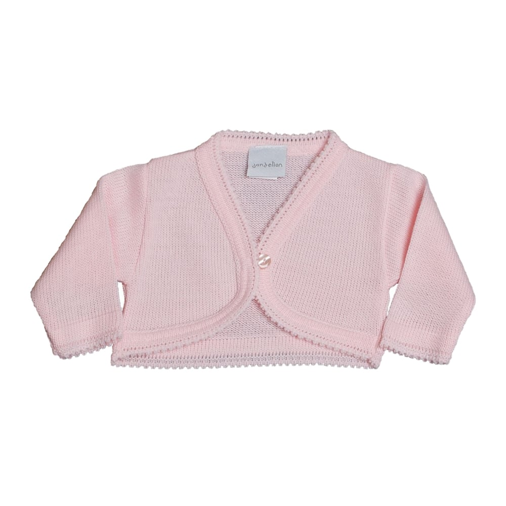 8ec70352ee19 Dandelion-Baby-Girl-Knitted-Bolero-Pink