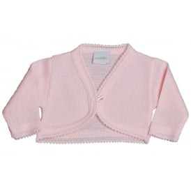 Baby Girl Knitted Bolero in Pink