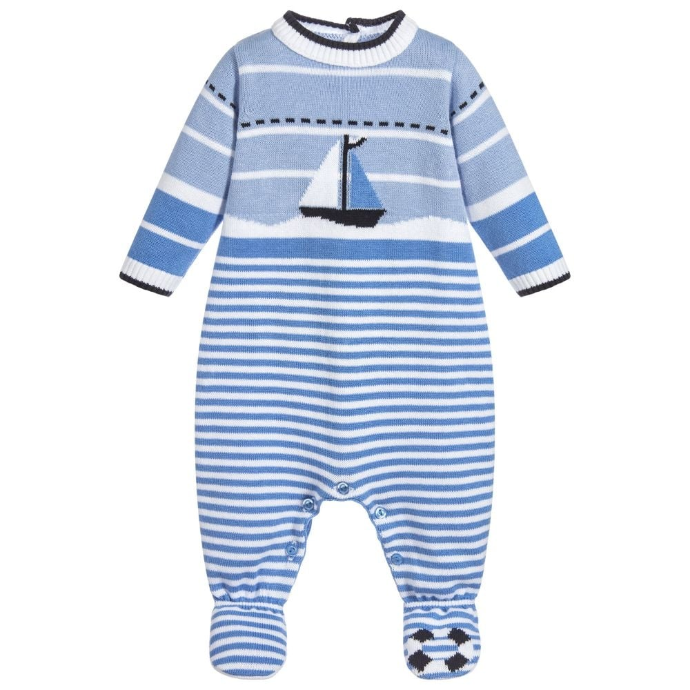 98d80a32f Baby Boy Knitted Sailboat All in One