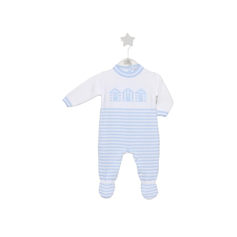 23174a8bb Dr-Kid-Baby-Boy-Pale-Blue-White-Knitted-All-in-One