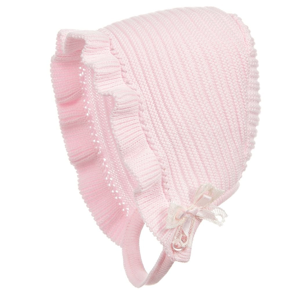 Dr-Kid-Baby-Girls-Pink-Knitted-Bonnet f8dac2509be