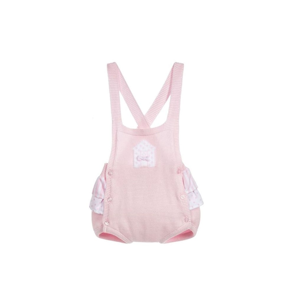 728544d235c Dr-Kid-Baby-Girl-Pink-Knitted-Dungaree-Romper