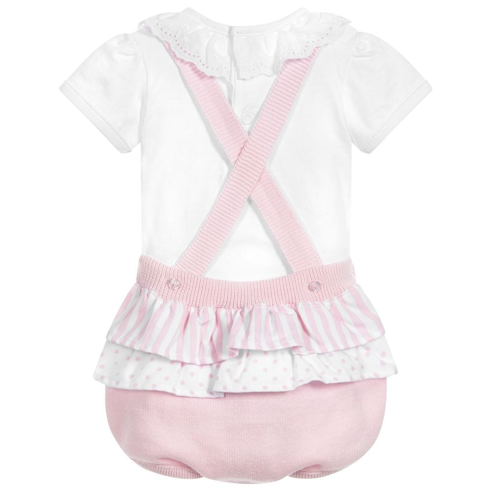c7b5787f5419 Dr-Kid-Baby-Girl-Pink-Knitted-Dungaree-Romper