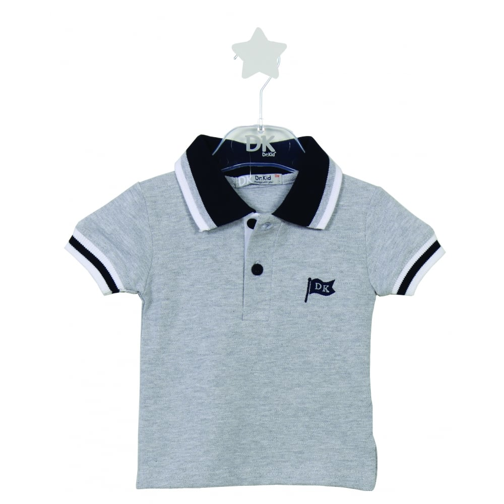7f0f6b451 Dr-Kid-Boys-Grey-with-Navy-Polo-Shirt