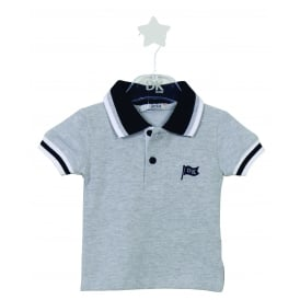 Mini Boy Grey with Navy Polo Shirt
