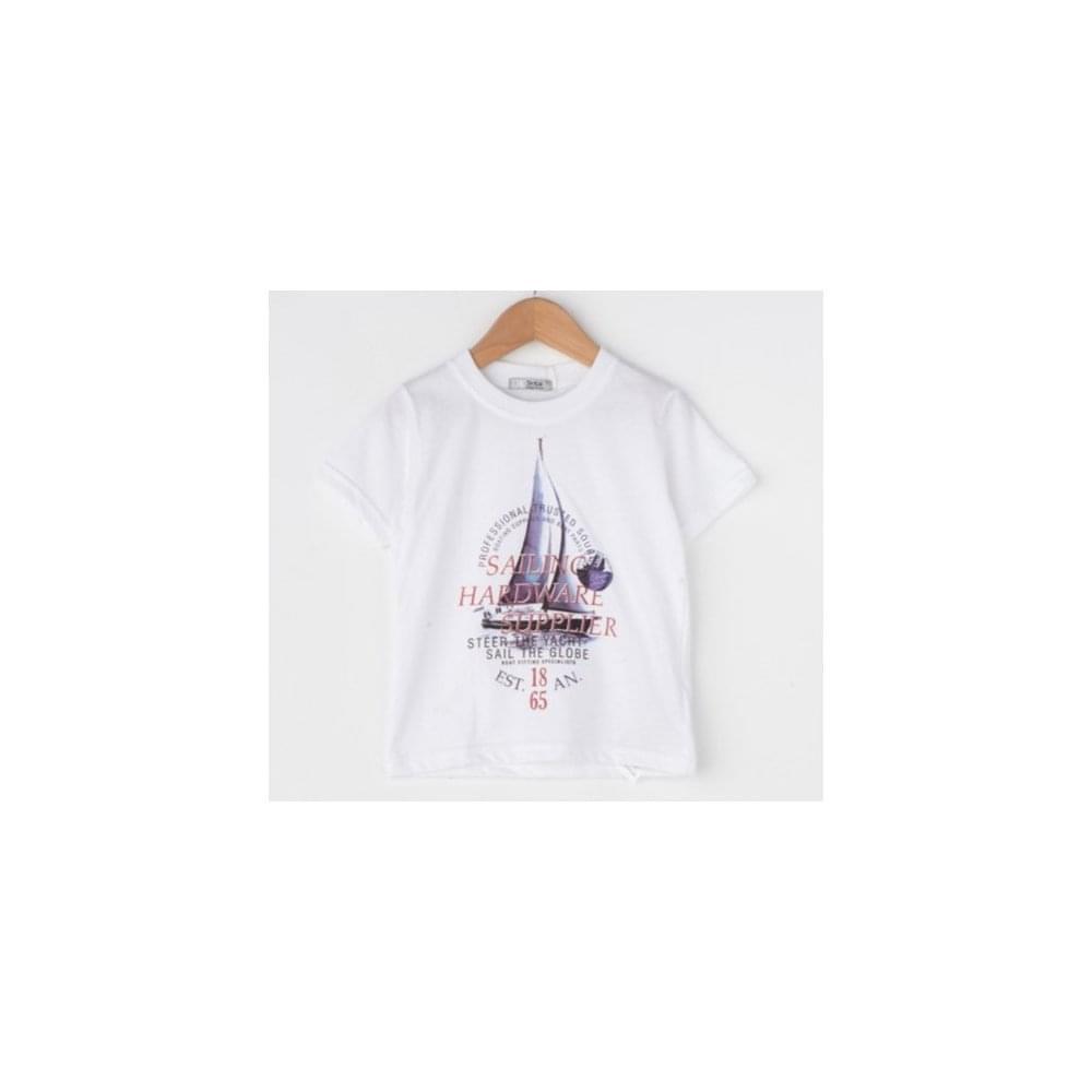 0708b11ad Dr-Kid-Boys-White-Sailboat-T-Shirt-DK509