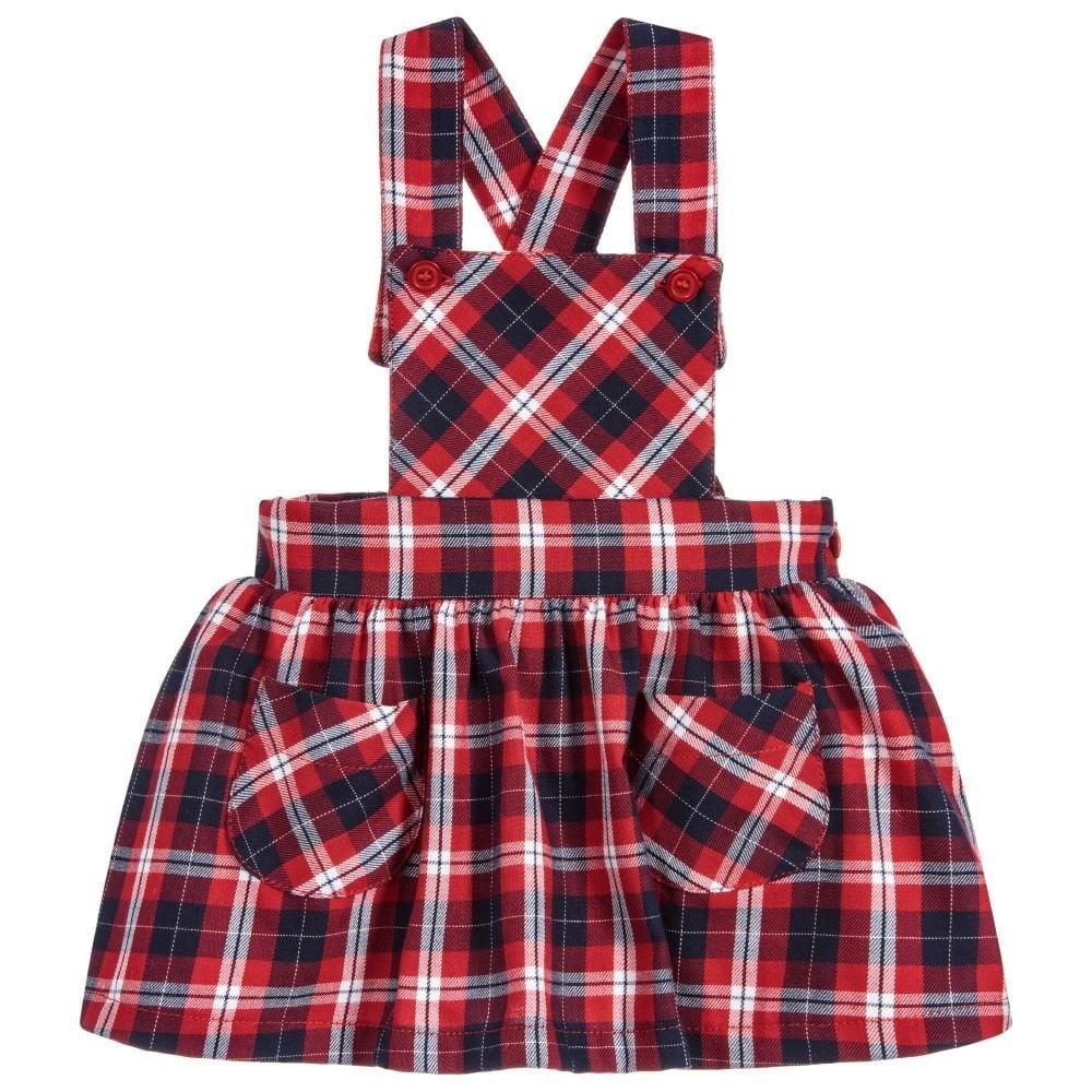 beauty exquisite style discount coupon Dr Kid Mini Girl Tartan Pinafore Dress