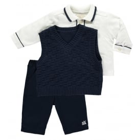 Boys Layton Navy Tank Top Outfit