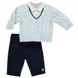 Boys Lennon Cable Jumper and Trouser Set