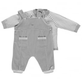 Boys Lowe Grey Dungaree and Jumper Set