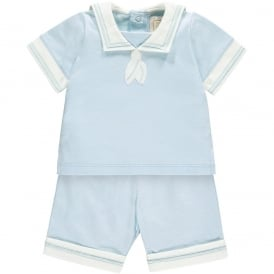 Boys Magnus Pale Blue Sailor Outfit