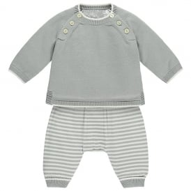 Boys Marvin Knit Top, Trouser and Hat Set