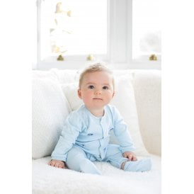 9c6de9057 Boys Nevin Pale Blue All in One with Booties SALE. Emile et Rose ...