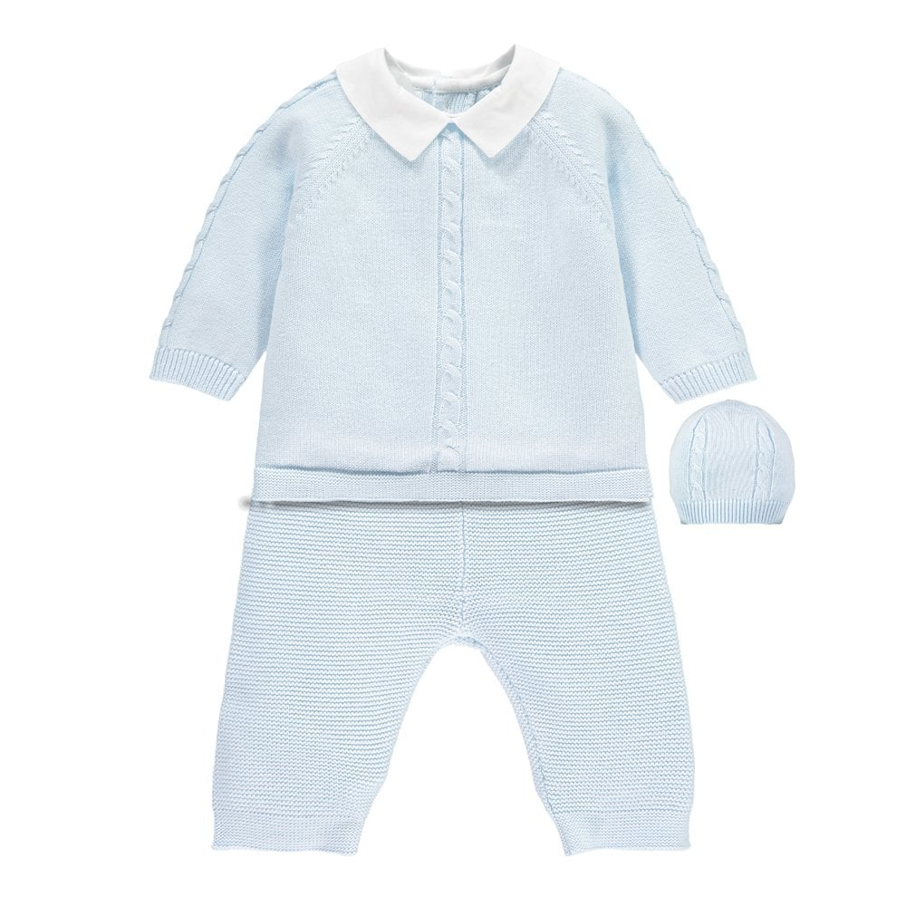 949c84623 Boys Noah Knitted Top, Trouser and Hat Set