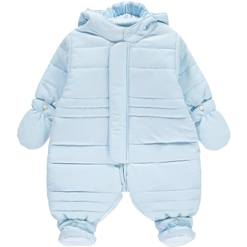 a7814a04c Emile-et-Rose-Baby-Boys-Pale-Blue-Snowsuit-Pramsuit