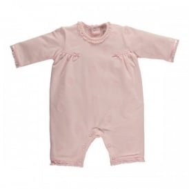 Girls All in One Pale Pink Heart Suit