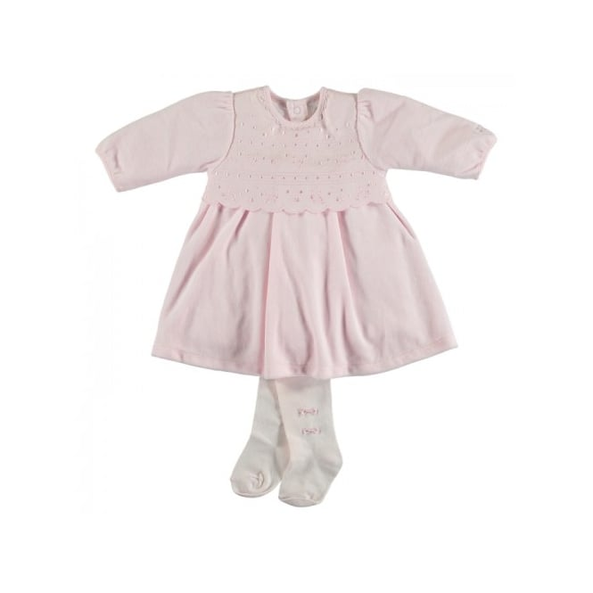 Emile et Rose Girls Juniper Velour Dress and Tights