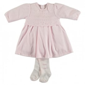Girls Juniper Velour Dress and Tights