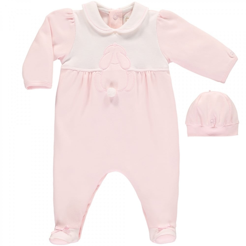 Girls' Clothing (newborn-5t) Lovely Mintini Girls Babygrow And Hat With Bow Detail Clothing, Shoes & Accessories