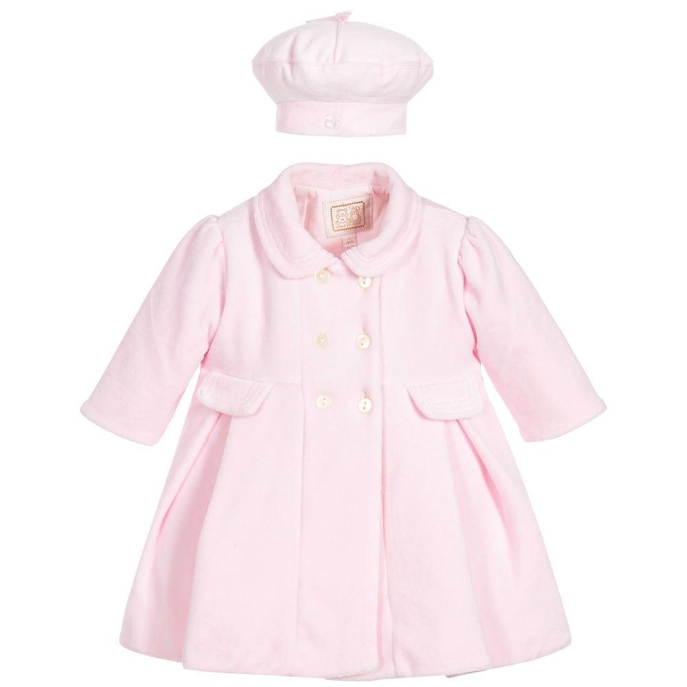 edda27af8bd Emile-et-Rose-Girls-Lucinda-Pale-Pink-Velour-Coat-and-Hat