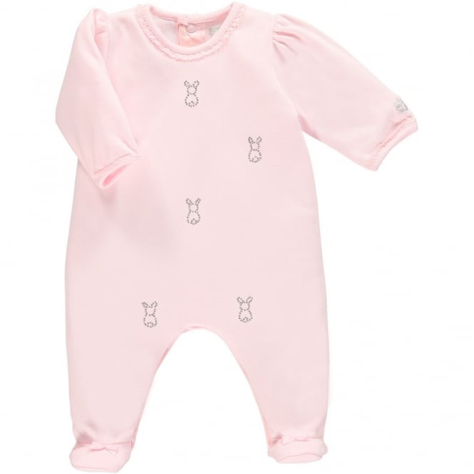 Emile et Rose Girls Pale Pink All in One Diamante Bunnies