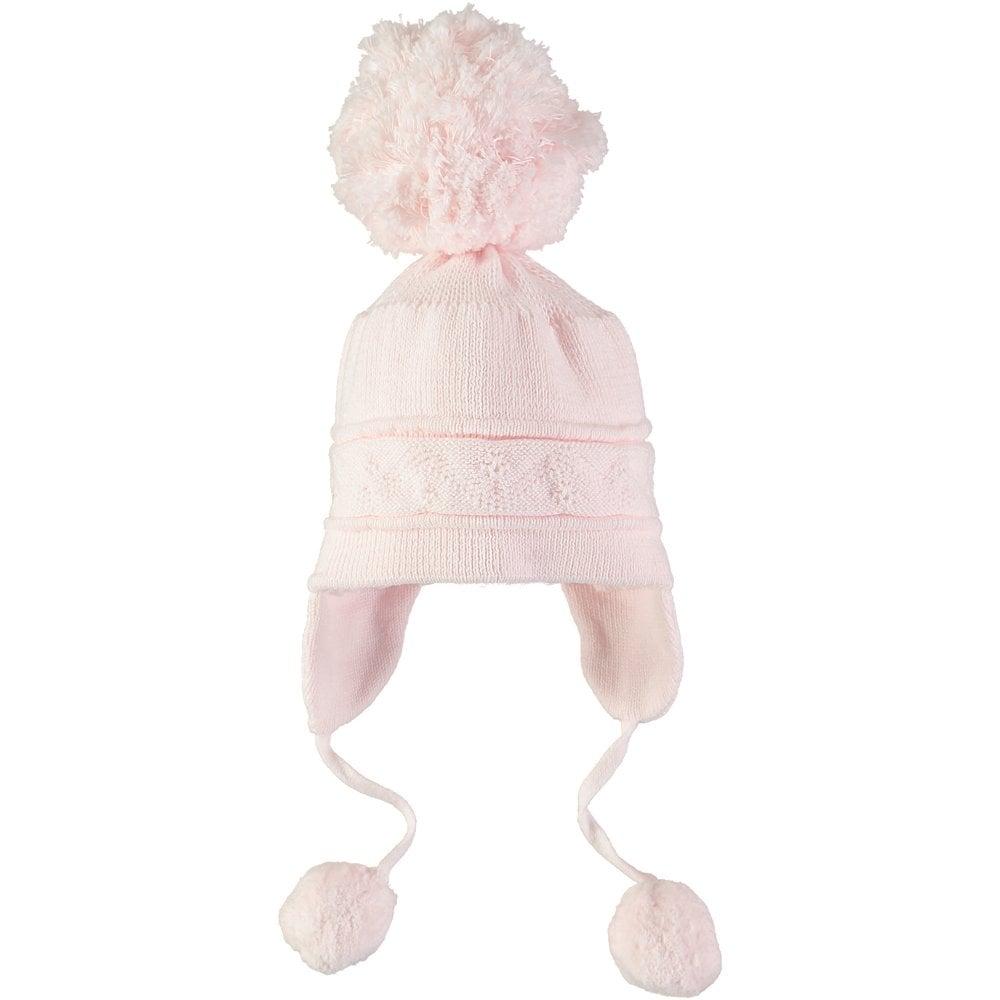 9fad9345e79 Emile-et-Rose-Girls-Pale-Pink-Bobble-Hat