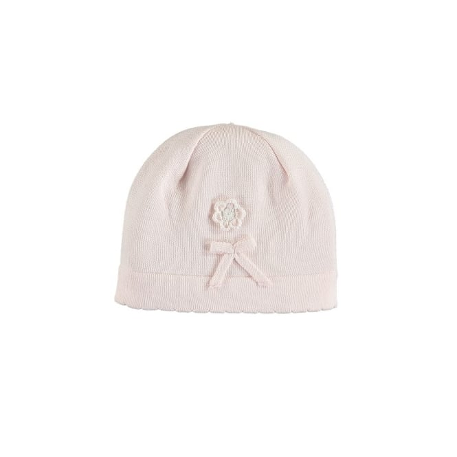 Emile et Rose Girls Pale Pink Knit Beanie Hat