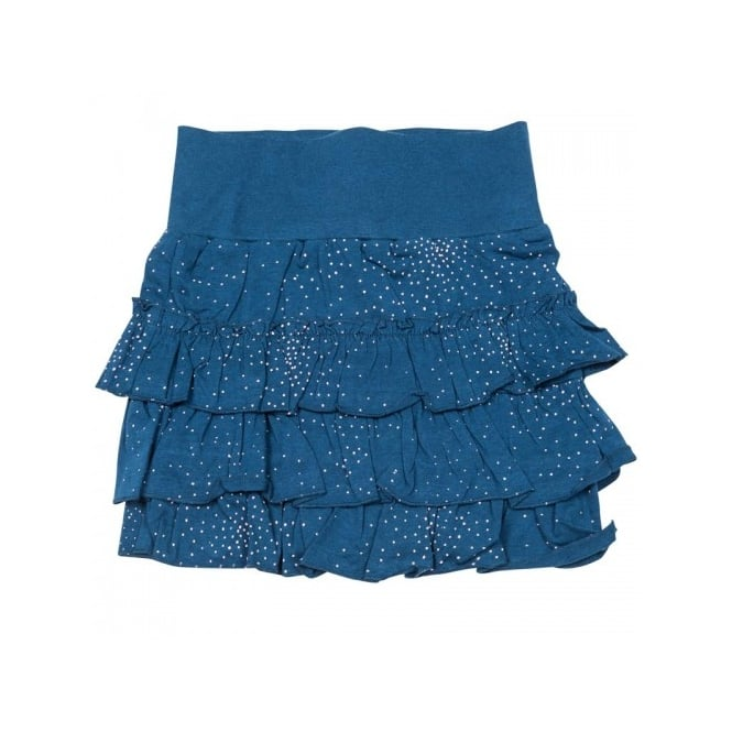 French Connection Kids Girls Blue Frill Skirt