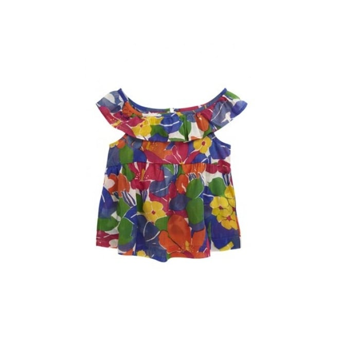 French Connection Kids Girls Floral Frill Top