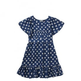 Girls Ladybug Print Dress