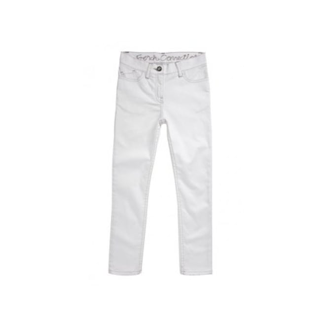 French Connection Kids Girls White Denim Jean