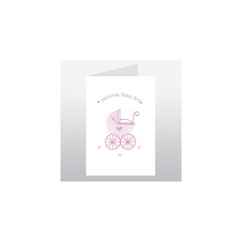 New baby girl pink pram card new baby girl pink pram card m4hsunfo